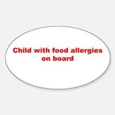 Funny Child allergic to gluten Decal