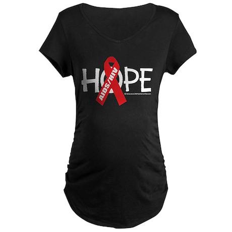 AIDS/HIV Hope Maternity Dark T-Shirt