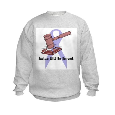 Domestic Violence Justice Kids Sweatshirt