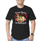 Dog rescue Fitted T-shirts (Dark)