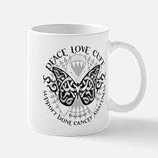Bone Cancer Butterfly Tribal Mug