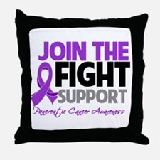JoinTheFight-Cancer Throw Pillow