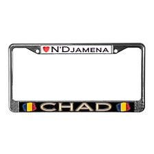 N'Djamena, CHAD - License Plate Frame