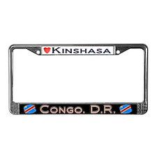 Kinshasa, CONGO, D.R - License Plate Frame