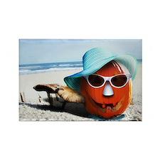 beached pumpkin Magnets