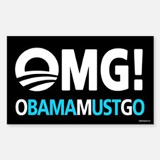 OMG! obamamustgo Sticker (Rectangle)
