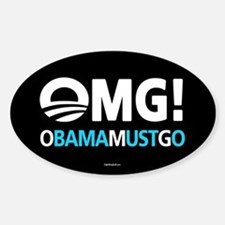 OMG! obamamustgo Sticker (Oval)