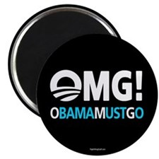 "OMG! obamamustgo 2.25"" Magnet (100 pack)"