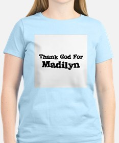 Thank God For Madilyn Women's Pink T-Shirt