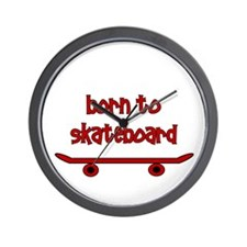 Born To Skate Skateboard Wall Clock