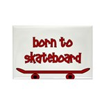 Born To Skate Skateboard Rectangle Magnet (100 pac