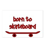 Born To Skate Skateboard Postcards (Package of 8)