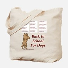 Back to Dog School Tote Bag