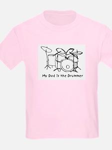 Dad's the Drummer Kids T-Shirt