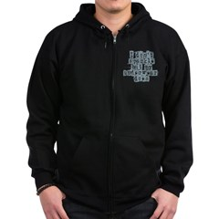 I Don't Sparkle Zip Hoodie