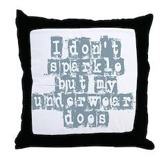 I Don't Sparkle Throw Pillow