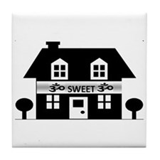 OM SWEET OM Tile Coaster