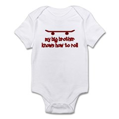 Big Brother Knows How To Roll Infant Bodysuit