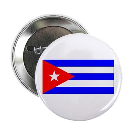 "Cuba Cuban Blank Flag 2.25"" Button (100 pack)"