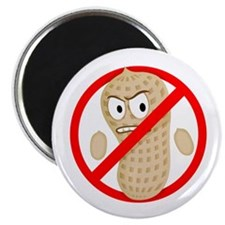 No Peanuts Food Allergy Cartoon Kids Button
