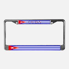 Cuba Cuban Blank Flag License Plate Frame