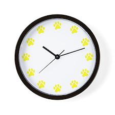 Paw Print Clock Wall Clock