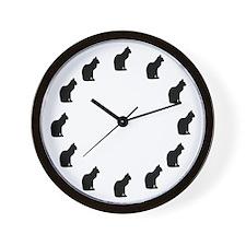 Cat Clock Wall Clock