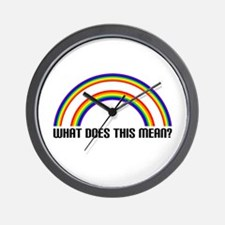 WHAT DOES THIS MEAN? Wall Clock