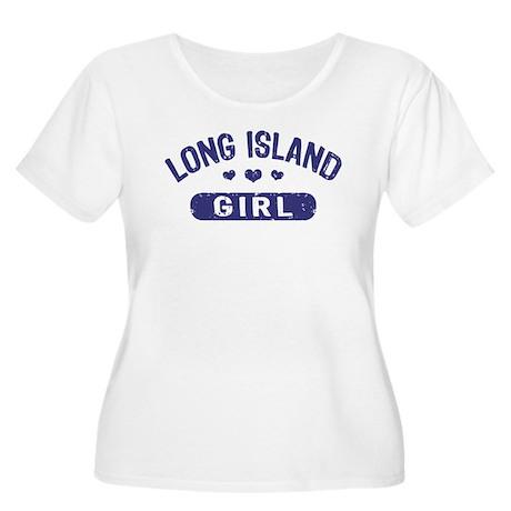 Long Island Girl Women's Plus Size Scoop Neck T-Sh