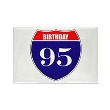 95th Birthday! Rectangle Magnet