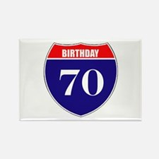 70th Birthday! Rectangle Magnet (10 pack)