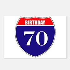 70th Birthday! Postcards (Package of 8)