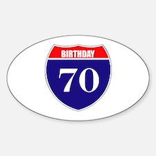 70th Birthday! Decal