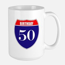 50th Birthday! Large Mug