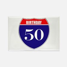 50th Birthday! Rectangle Magnet