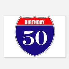 50th Birthday! Postcards (Package of 8)