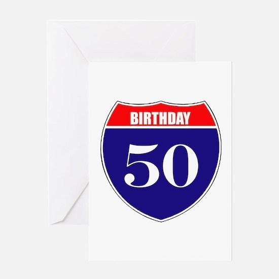50th Birthday! Greeting Card