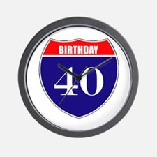 40th Birthday! Wall Clock