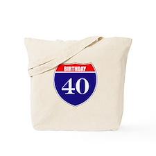 40th Birthday! Tote Bag