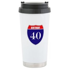 40th Birthday! Travel Mug