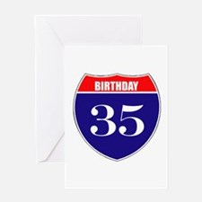 35th Birthday! Greeting Card