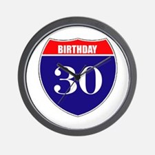 30th Birthday! Wall Clock