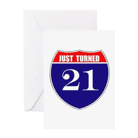 21st Birthday! Greeting Card