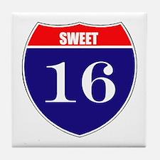 16th Birthday! Tile Coaster