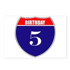 5th Birthday! Postcards (Package of 8)
