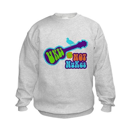 Ukes Not Nukes Kids Sweatshirt