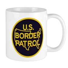 gold/black border patrol Small Mug
