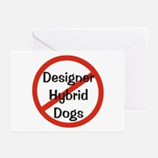 NO Designer Hybrid Dogs Greeting Cards (Package of