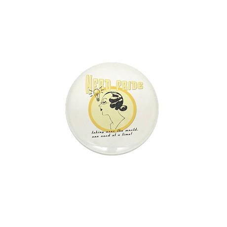 """""""Nerd Pride"""" (female) Mini Button (10 pack)"""