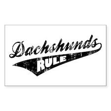 Dachshunds Rule Decal